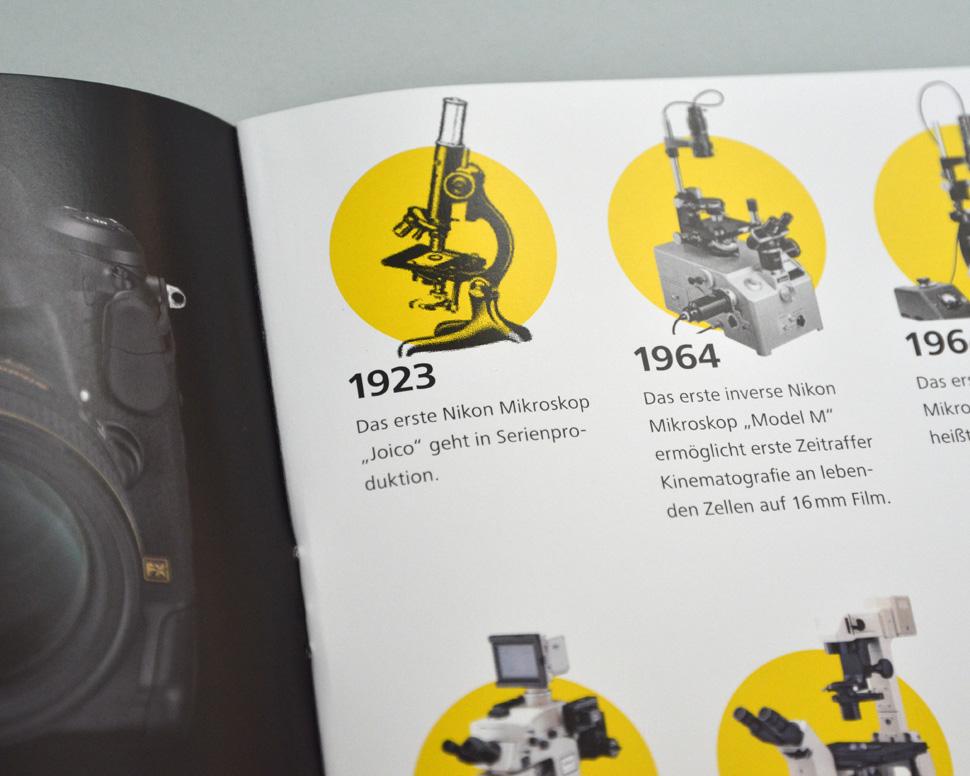 Nikon Broschüre Doppelseite Detail