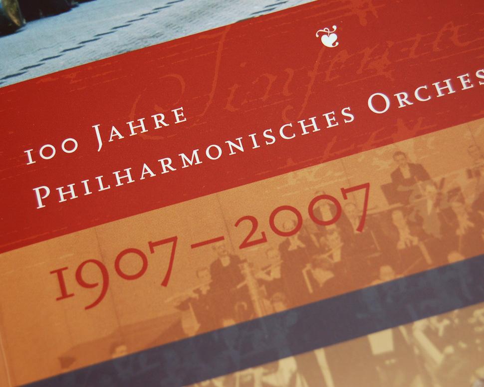 Buch 100 Jahre Philharmonisches Orchester Hagen Titelseite Detail