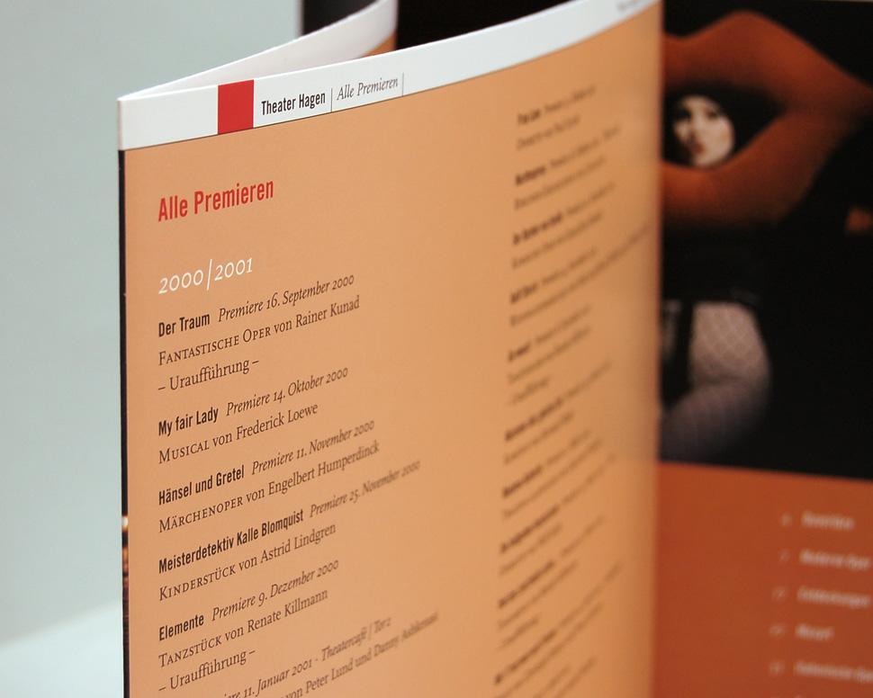 Buch Theater Hagen 2000 bis 2007 Umschlag mit Klappseite