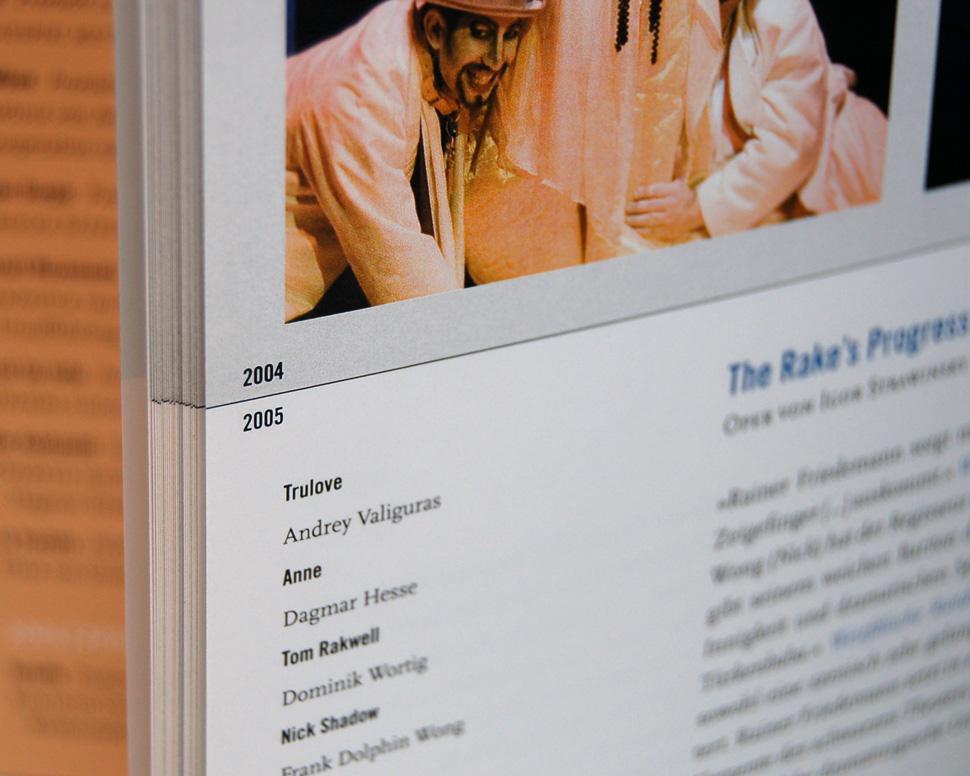 Buch Theater Hagen 2000 bis 2007 Innenseite Detail