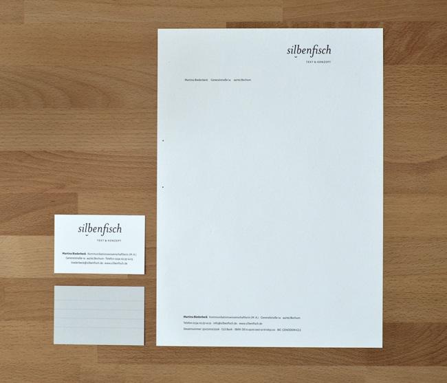 silbenfisch Briefbogen und Geschäftskarte