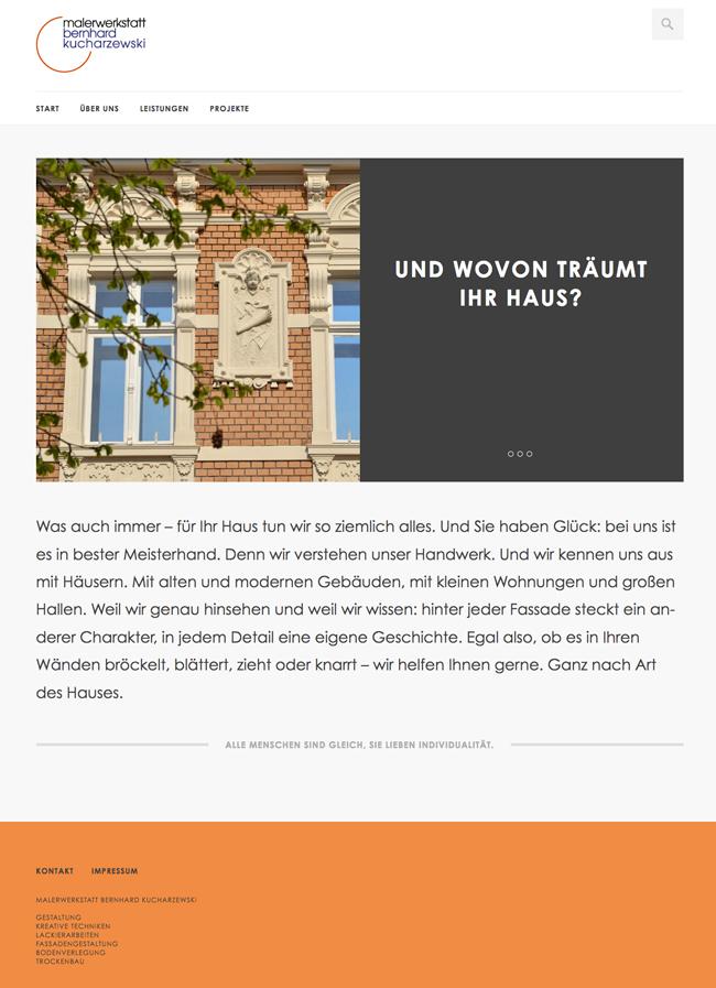 Malerwerkstatt Kucharzewski Website Startseite