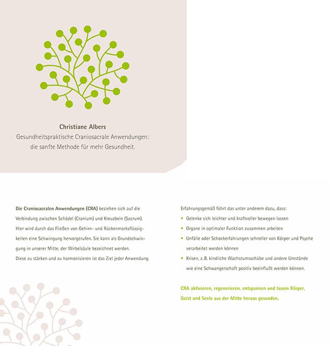 Karte / Flyer für die Gesundheitspraktikerin Christiane Albers