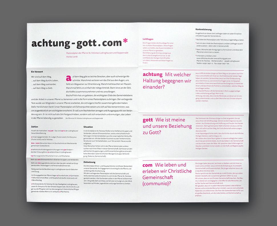 Faltplakat achtung-gott.com* Vorderseite