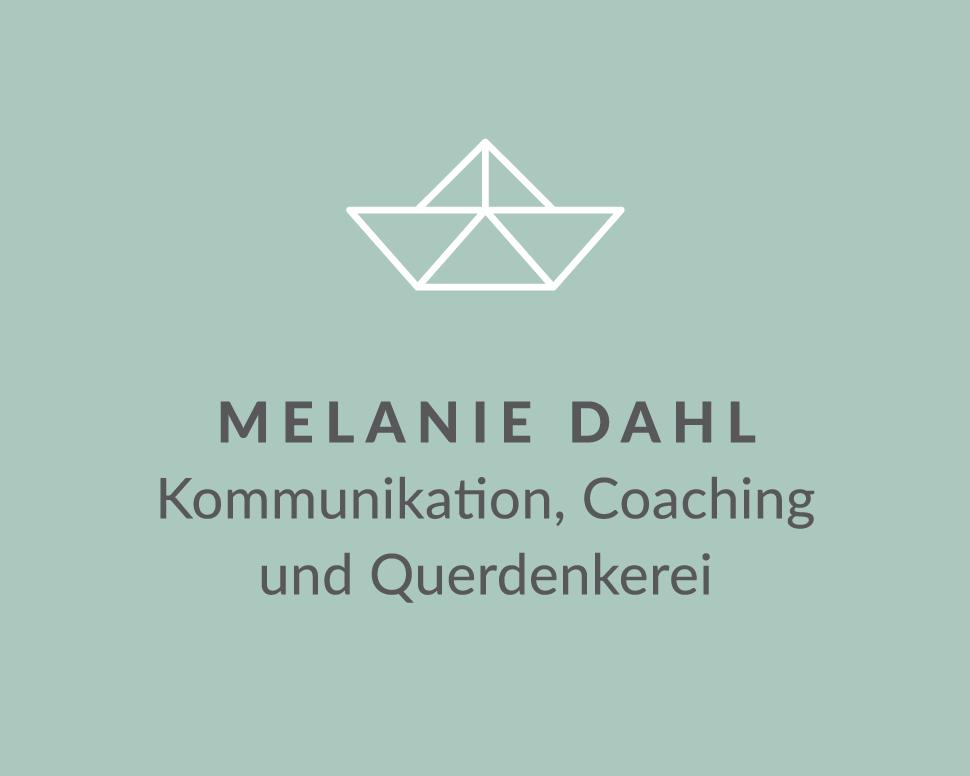 Logo und Signet: Melanie Dahl – Kommunikation, Coaching und Querdenkerei