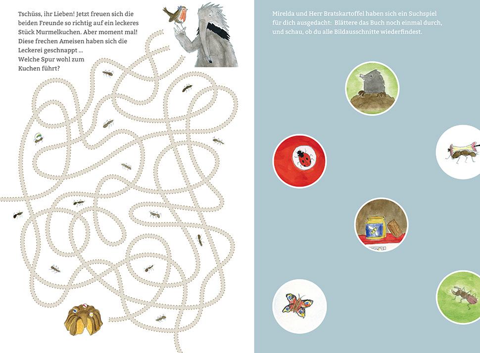 Labyrinth und Suchspiel aus dem Kinderbuch