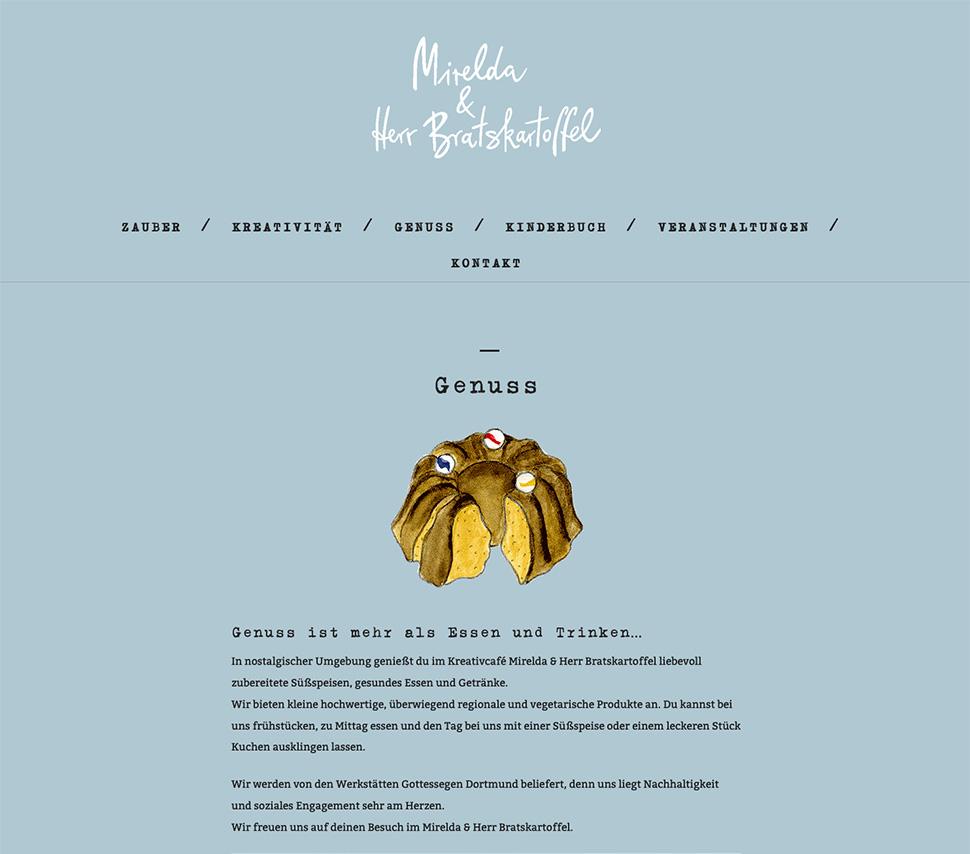 Mirelda Website Beispielseite »Genuss«