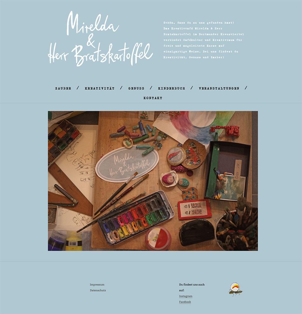 Mirelda Website Startseite